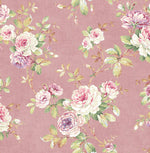 RG61401 floral trail wallpaper from the Garden Rose collection by Seabrook Designs