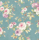RG61402 floral trail wallpaper from the Garden Rose collection by Seabrook Designs