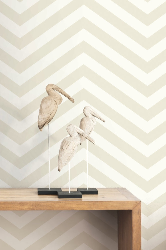 TA20605 Jamaica chevron wallpaper decor from the Tortuga collection by Seabrook Designs
