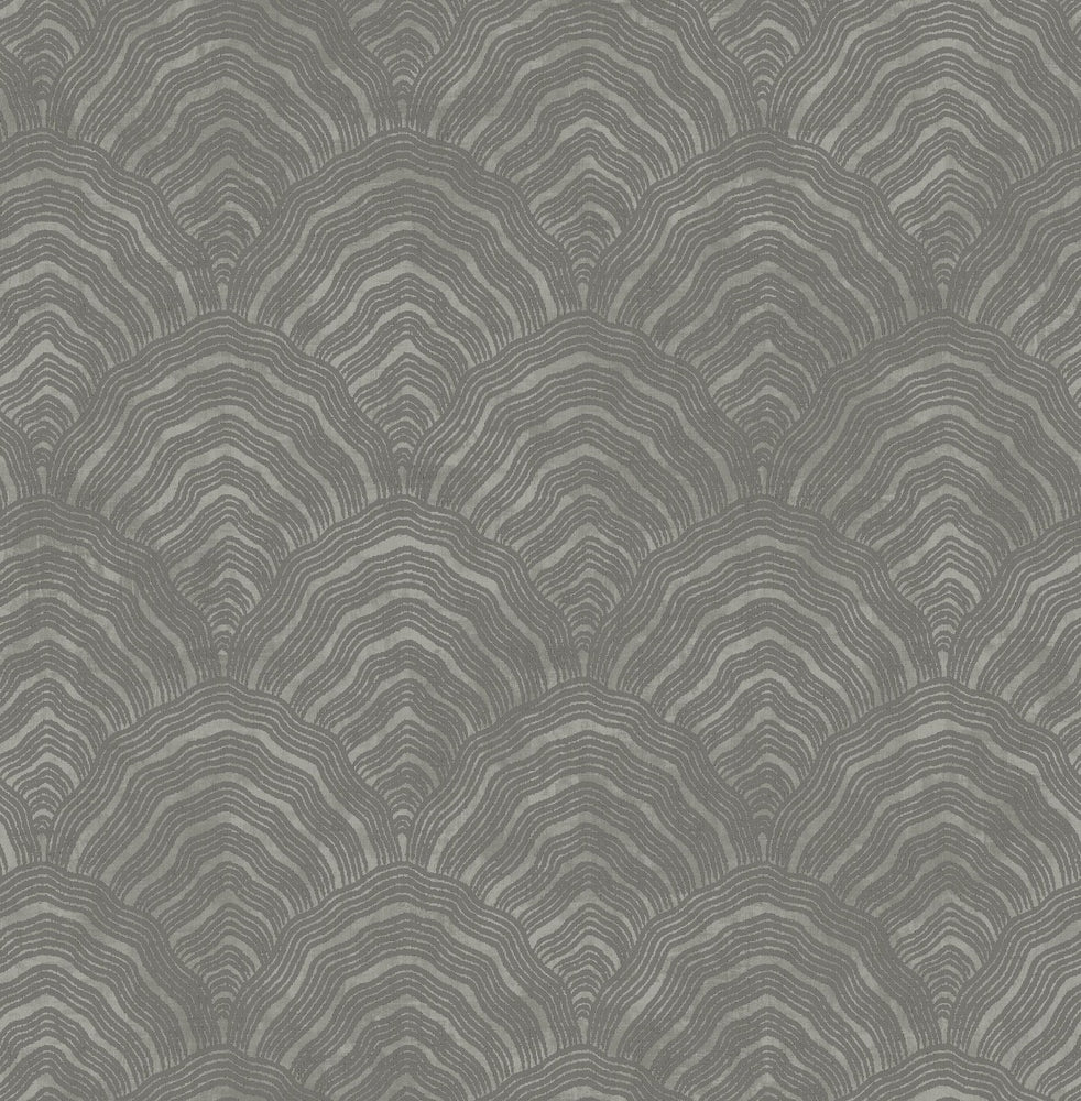AI41508 confucius scallop wallpaper from the Koi collection by Seabrook Designs