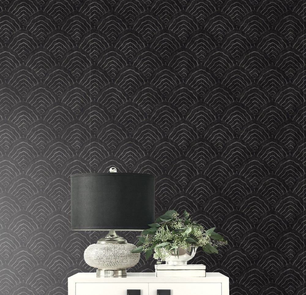 AI41500 confucius scallop wallpaper decor from the Koi collection by Seabrook Designs