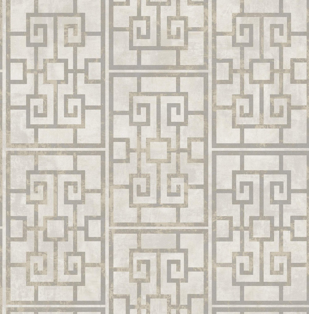 AI40208 Dynasty lattice geometric wallpaper from the Koi collection by Seabrook Designs