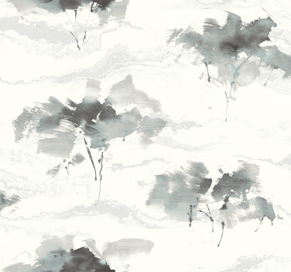 AH40700 watercolor trees botanical wallpaper from the L'Atelier de Paris collection by Seabrook Designs