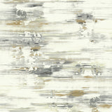 AH41105 gold abstract brushstroke wallpaper from the L'Atelier de Paris collection by Seabrook Designs