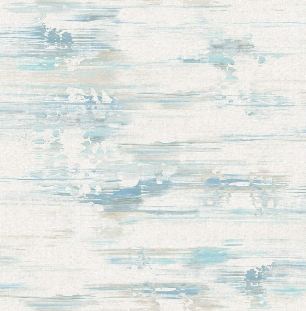 AH41102 blue abstract brushstroke wallpaper from the L'Atelier de Paris collection by Seabrook Designs