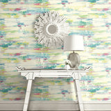 AH41101 multicolored abstract brushstroke wallpaper decor from the L'Atelier de Paris collection by Seabrook Designs