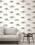 AH40700 watercolor trees botanical wallpaper living room from the L'Atelier de Paris collection by Seabrook Designs