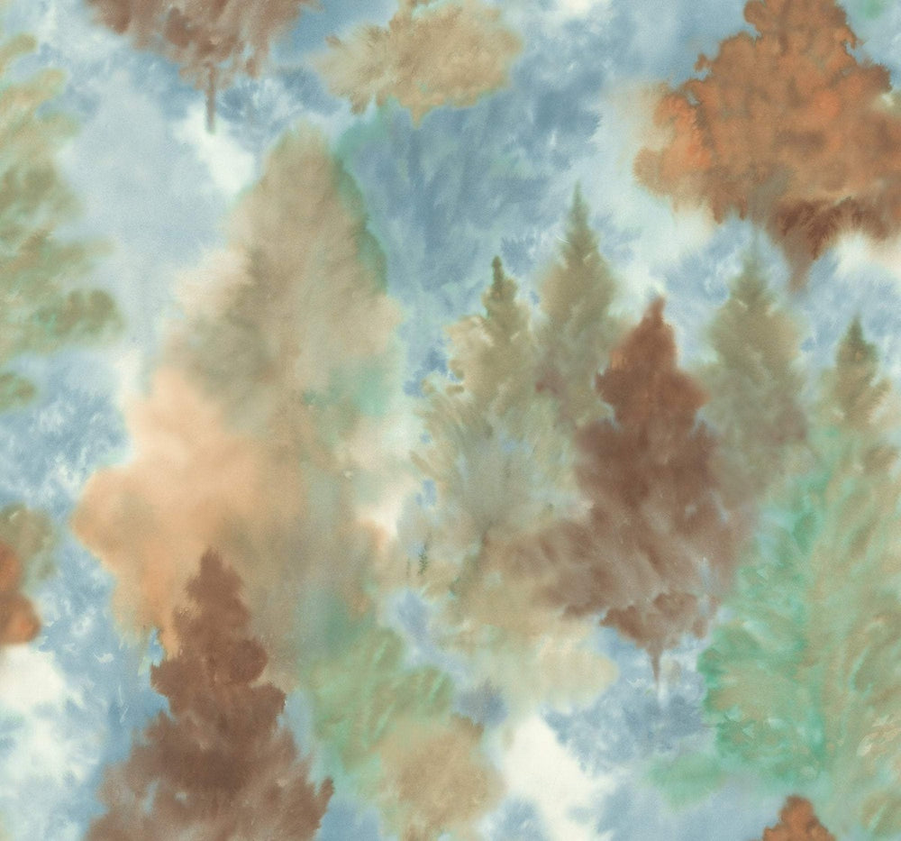 AH41206 soft landscape tree wallpaper from the L'Atelier de Paris collection by Seabrook Designs