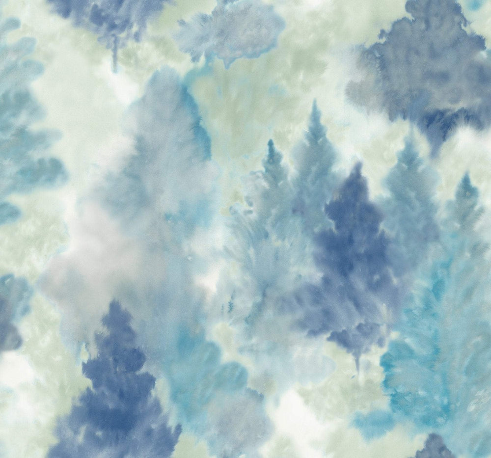 AH41202 soft landscape tree wallpaper from the L'Atelier de Paris collection by Seabrook Designs