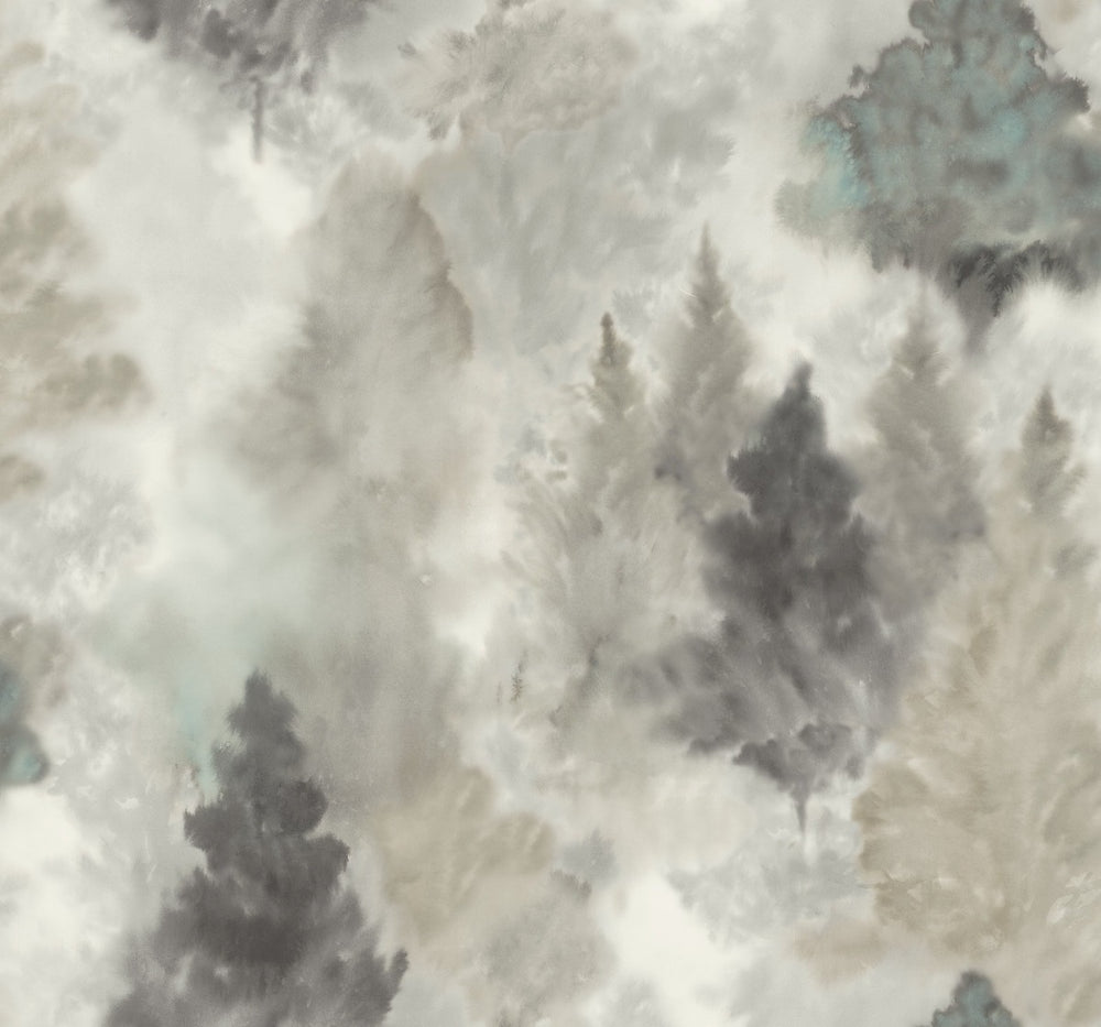 AH41200 soft landscape tree wallpaper from the L'Atelier de Paris collection by Seabrook Designs
