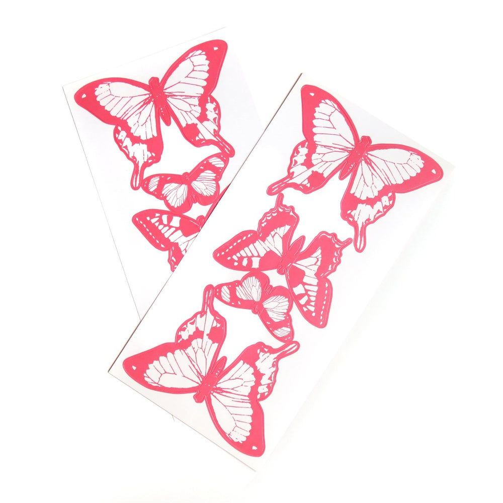 Flutter Butterfly 3D Pink Nursery Wall Decals