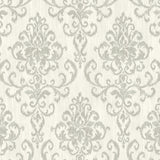 OA22500 washed damask wallpaper from the Indigo collection by Seabrook Designs