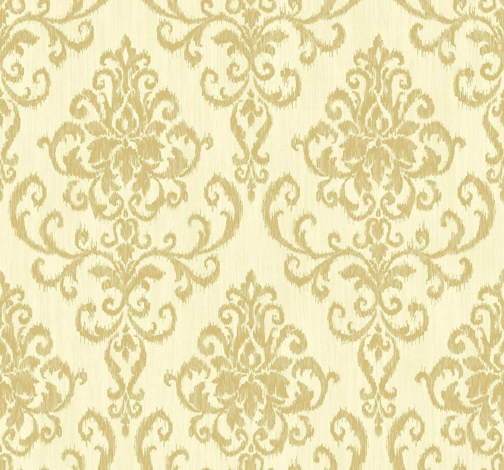 OA22505 washed damask wallpaper from the Indigo collection by Seabrook Designs