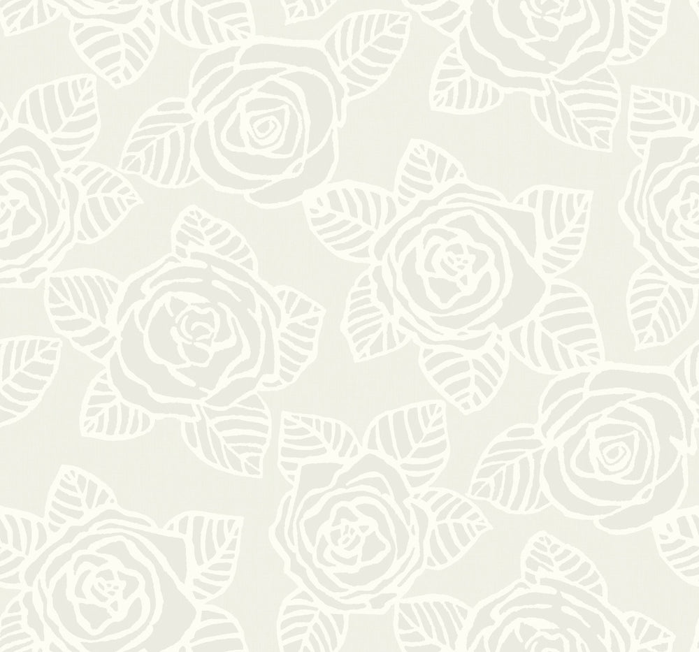 SH70508 Bellvale roses floral wallpaper from the New Hampton collection by Seabrook Designs