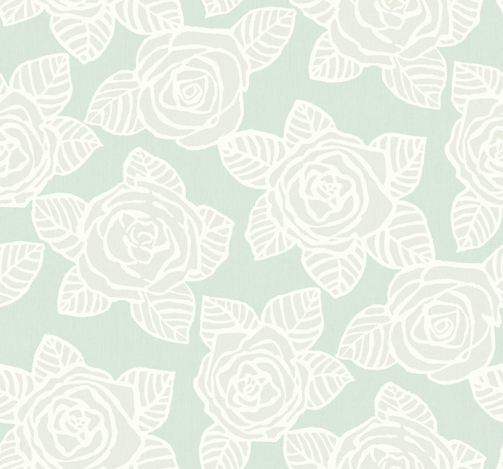 SH70512 Bellvale roses floral wallpaper from the New Hampton collection by Seabrook Designs