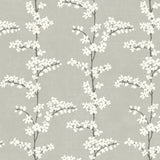 SH70308 silver appleton floral wallpaper from the New Hampton collection by Seabrook Designs