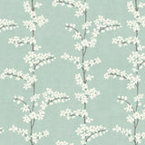 SH70312 blue appleton floral wallpaper from the New Hampton collection by Seabrook Designs