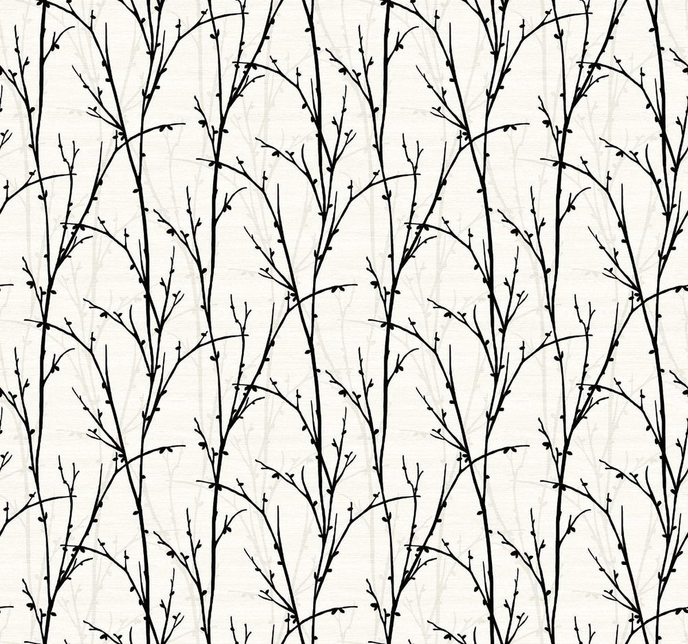 SH71500 deer park twigs botanical wallpaper from the New Hampton collection by Seabrook Designs