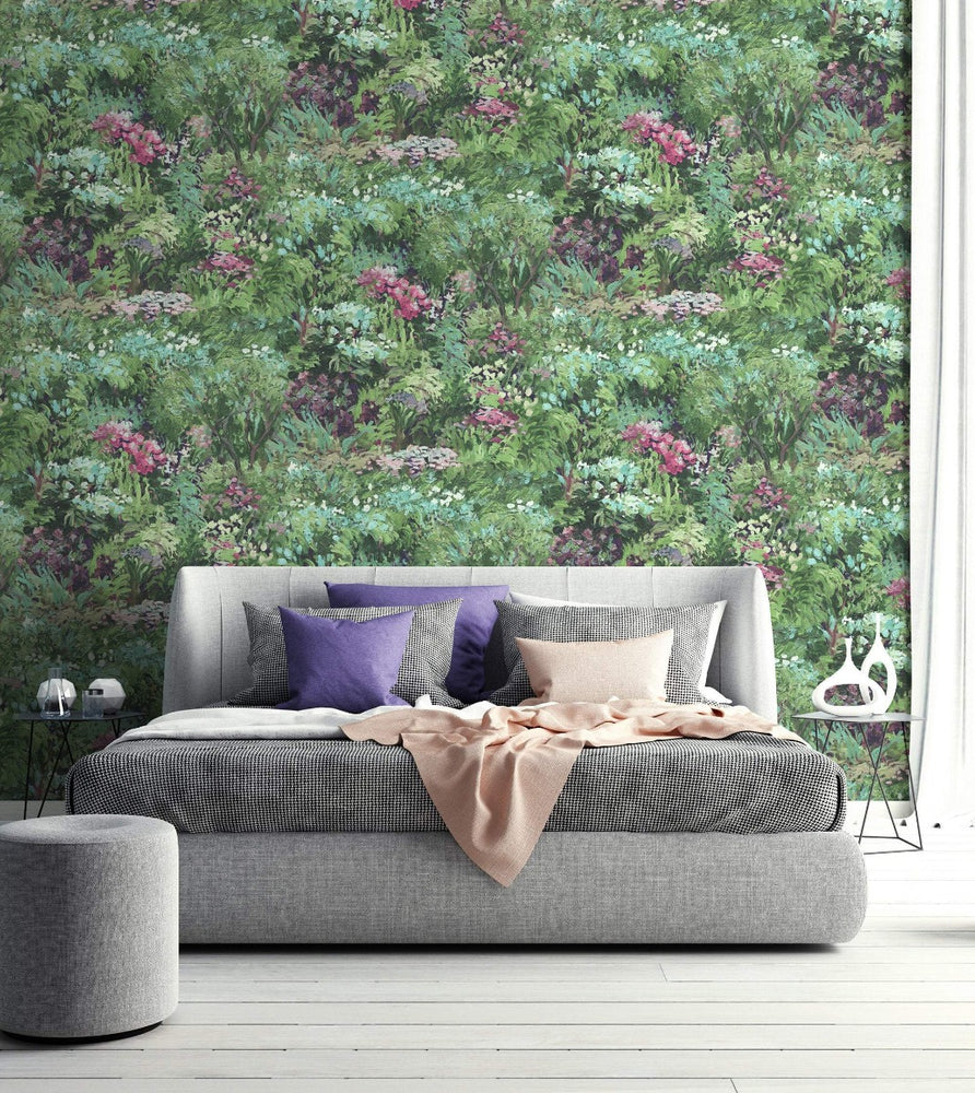 FI70701 brushstroke garden botanical wallpaper from the French Impressionist collection by Seabrook Designs