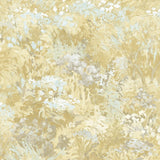 FI70705 gold brushstroke garden botanical wallpaper from the French Impressionist collection by Seabrook Designs