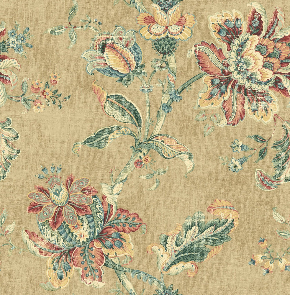 RN70907 jacobean floral wallpaper from Say Decor