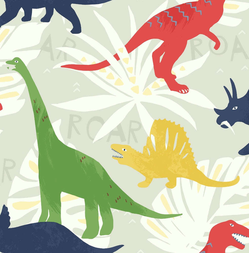 FA40001 pack party dinosaur wallpaper from the Playdate Adventure collection by Seabrook Designs