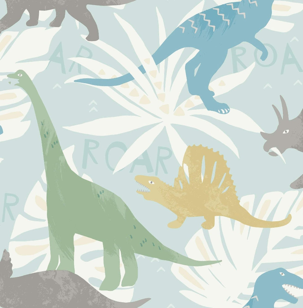 FA40012 pack party dinosaur wallpaper from the Playdate Adventure collection by Seabrook Designs