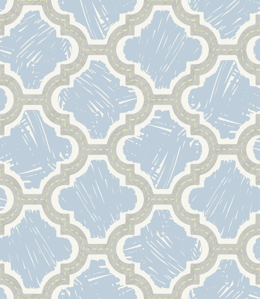 FA40402 racetrack ogee kids wallpaper from the Playdate Adventure collection by Seabrook Designs