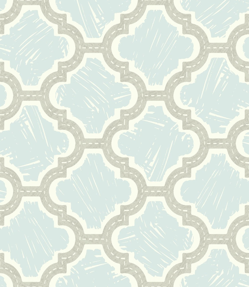 FA40408 racetrack ogee kids wallpaper from the Playdate Adventure collection by Seabrook Designs