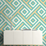 GT20304 Mirante chevron block wallpaper decor from the Geo collection by Seabrook Designs