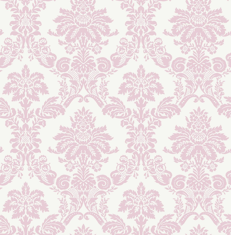 FA40901 glitter damask kids wallpaper from the Playdate Adventure collection by Seabrook Designs