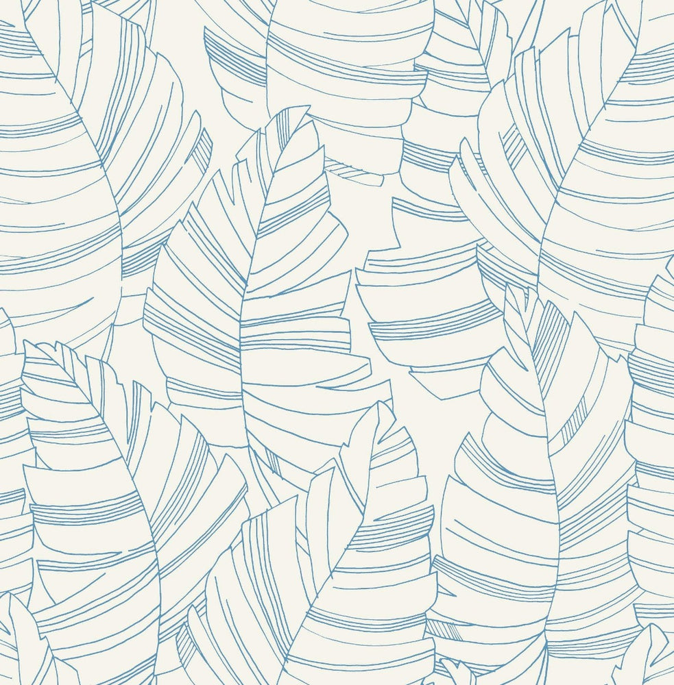 DA61402 jungle leaves botanical wallpaper from the Day Dreamers collection by Seabrook Designs