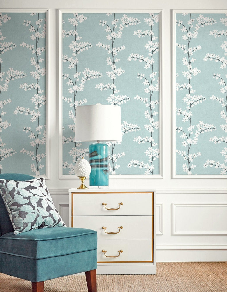 SH70312 appleton floral wallpaper from the New Hampton collection by Seabrook Designs