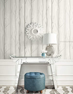 OA20210 branch botanical wallpaper decor from the Indigo collection by Seabrook Designs