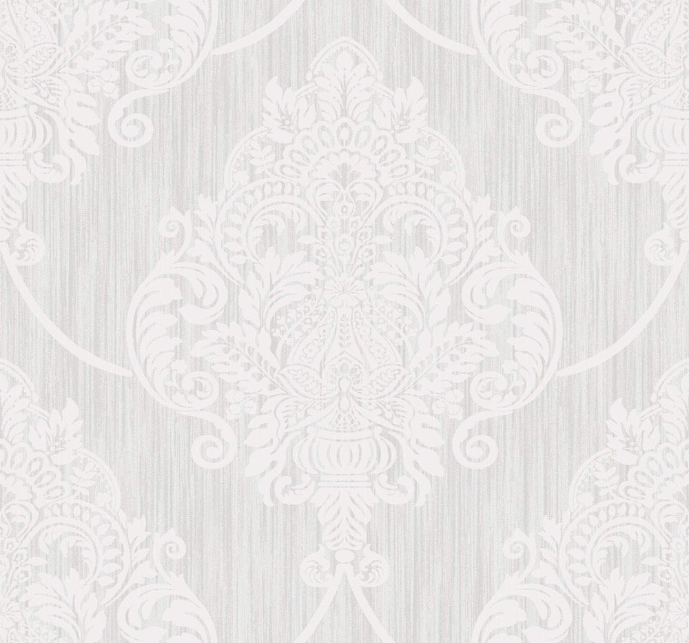 AW70800 puff damask wallpaper from the Casa Blanca 2 collection by Collins & Company
