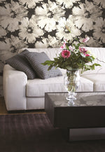 AV50000 Curie floral wallpaper decor from the Avant Garde collection by Seabrook Designs