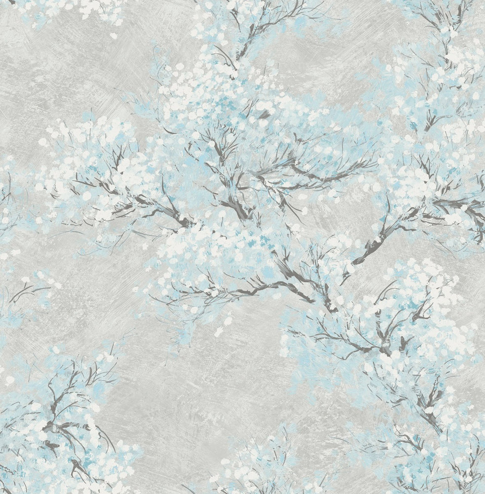 FI71108 cherry blossoms floral wallpaper from the French Impressionist collection by Seabrook Designs