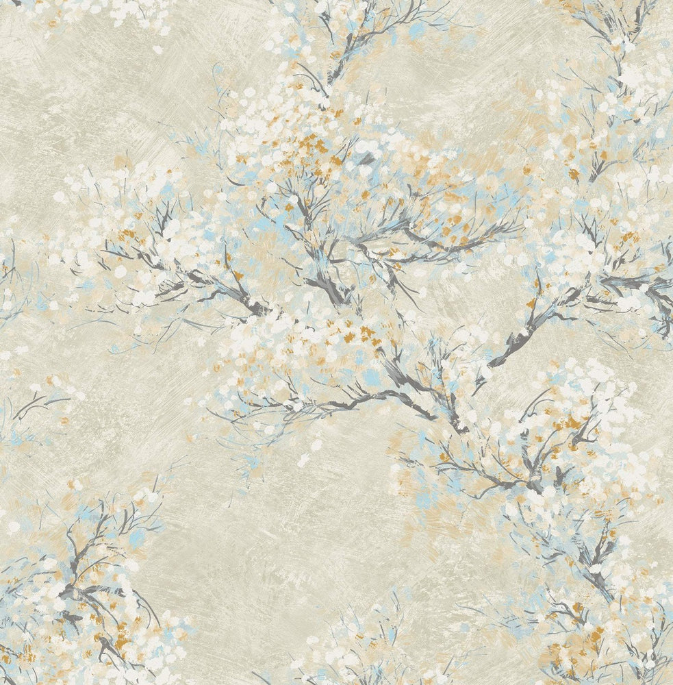 FI71105 cherry blossoms floral wallpaper from the French Impressionist collection by Seabrook Designs