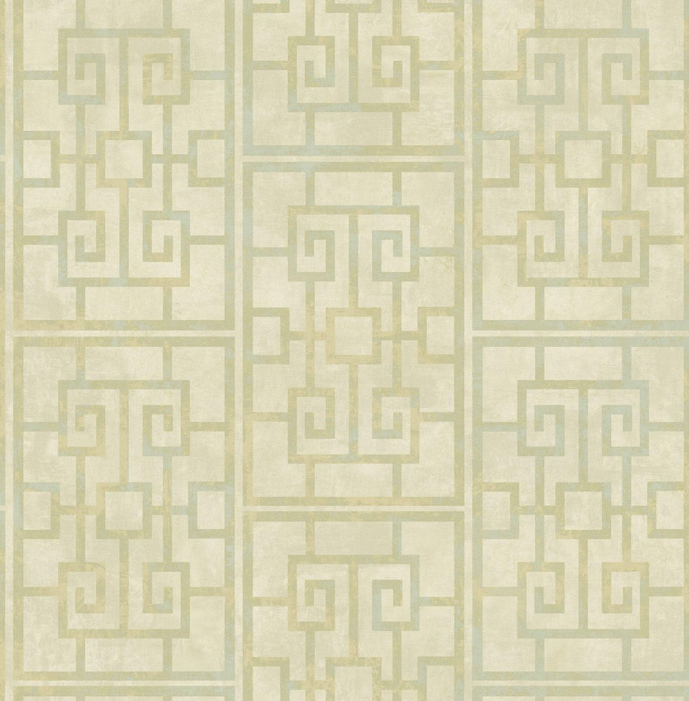AI40201 Dynasty lattice geometric wallpaper from the Koi collection by Seabrook Designs