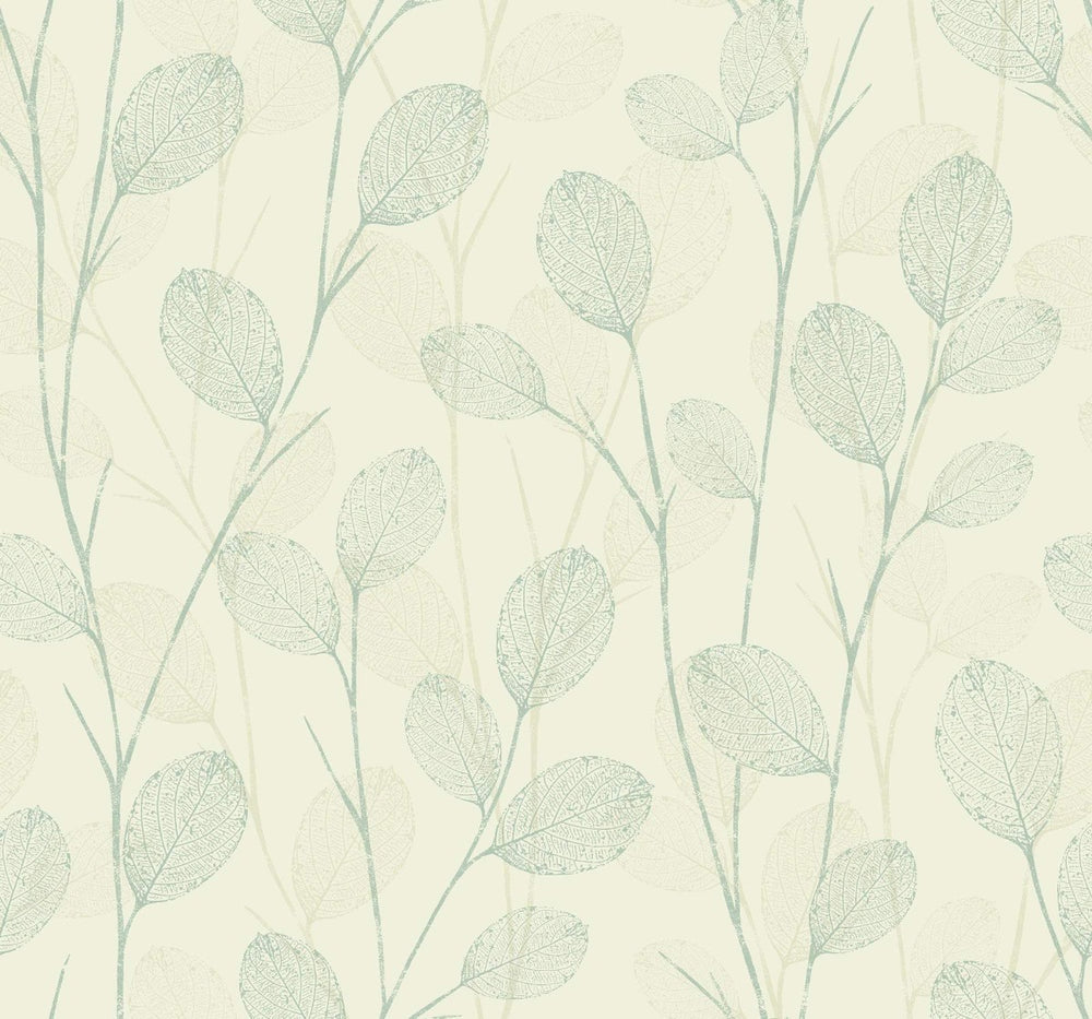 EC50212 leaf skeleton botanical wallpaper from the Eco Chic II collection by Seabrook Designs