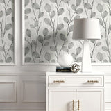 EC50210 leaf skeleton botanical wallpaper decor from the Eco Chic II collection by Seabrook Designs
