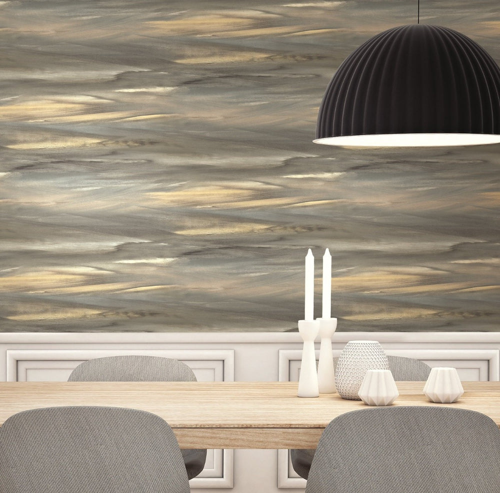 AH40200 rainbow brushstroke abstract wallpaper decor from the L'Atelier de Paris collection by Seabrook Designs