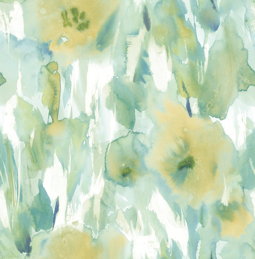 AH40404 watercolor floral wallpaper from the L'Atelier de Paris collection by Seabrook Designs