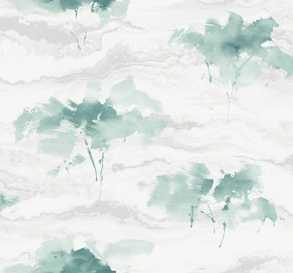 AH40704 watercolor trees botanical wallpaper from the L'Atelier de Paris collection by Seabrook Designs