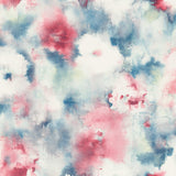 AH40911 red watercolor floral wallpaper from the L'atelier de Paris collection by Seabrook Designs