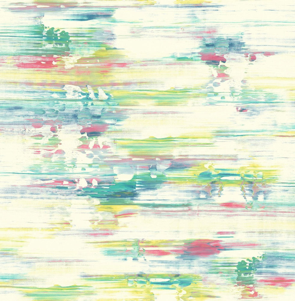 AH41101 multicolored abstract brushstroke wallpaper from the L'Atelier de Paris collection by Seabrook Designs