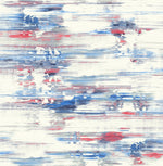 AH41111 blue abstract brushstroke wallpaper from the L'Atelier de Paris collection by Seabrook Designs