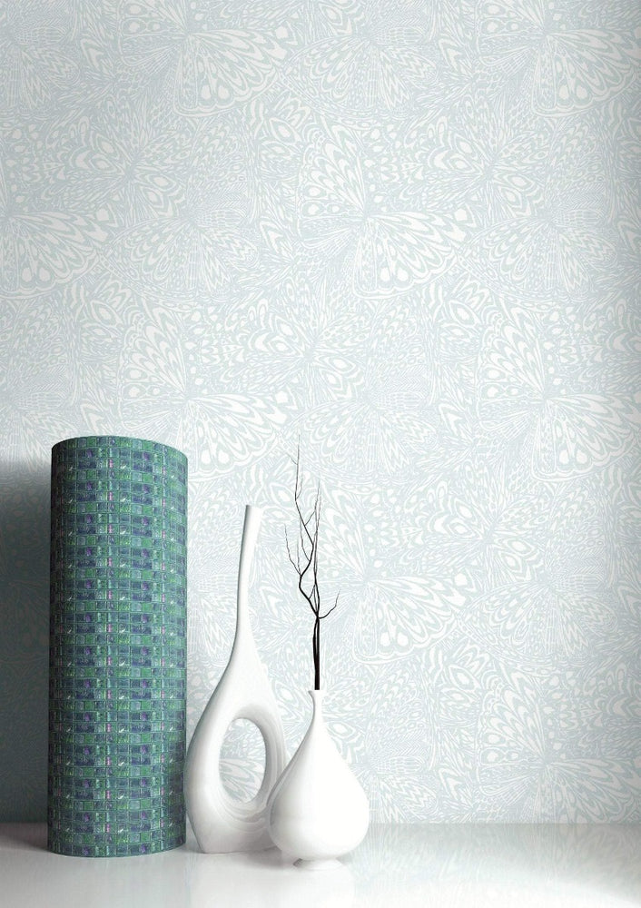 SD20516DS Manzanita abstract butterfly unpasted wallpaper decor