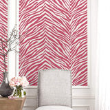 EC51201 zebra stripes animal print wallpaper decor from the Eco Chic 2 collection by Seabrook Designs