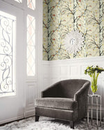 EC52206 entryway birch tree botanical wallpaper from the Eco Chic II collection by Seabrook Designs